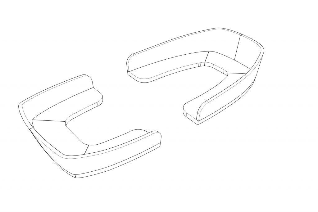 CAD tekening bootkussens